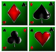 Poker Cards Signs Royalty Free Stock Images