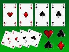 Poker Cards Signs Royalty Free Stock Image