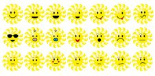 Free Set Of Sun Smileys Stock Photos - 7843973