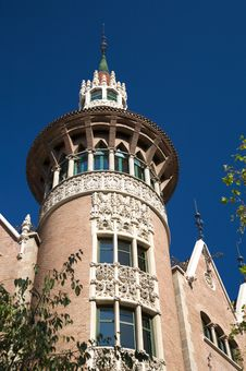 Free Tower Detail In Barcelona Royalty Free Stock Image - 7844146