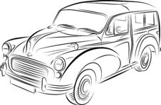 Drawing Of The Car Royalty Free Stock Photography