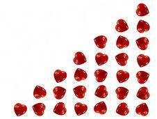 Free Hearts Background Royalty Free Stock Photo - 7844495