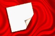 Free Note Paper On Red Satin Stock Image - 7844961