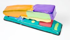 Free Set Of Colored Blot On Stapler Stock Images - 7845494