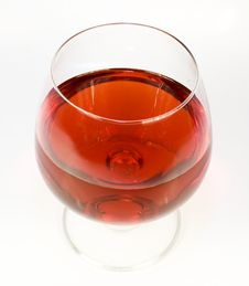 One Crystal Wine-glassful Stock Photos