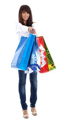 Free Sexy Woman With Shopping Bag Stock Photos - 7846243