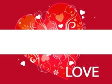 Free Love Banner Stock Photography - 7846552