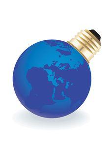 Free Globe Light Bulb Stock Image - 7846621