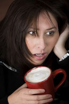 Free Woman In Need Of Coffee Royalty Free Stock Photography - 7846807