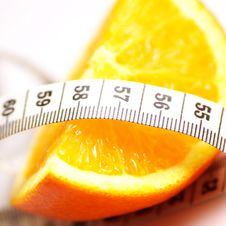 Free Orange And Pat Measure Royalty Free Stock Photography - 7846837