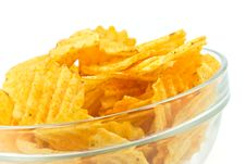 Free Potato Chips In A Bowl Stock Photo - 7846880
