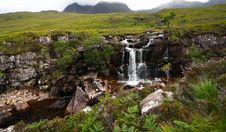 Waterfall In The Highlands Royalty Free Stock Images