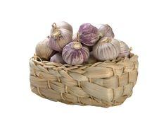 Free Garlic In Basket On White Background Stock Image - 7847251