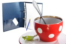 Free Tea Cup And The Folder Stock Photography - 7847322