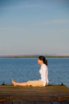 Free Yoga Woman Royalty Free Stock Image - 7847576