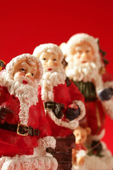 Free Three Santa Claus Figurines Royalty Free Stock Images - 7847829