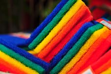 Free Rainbow Scrub Pads Royalty Free Stock Photos - 7848158