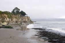 Free A Cliff On The Ocean In Capitola California Royalty Free Stock Photo - 7848305