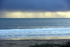 Free Storm Clouds Over The Ocean Stock Image - 7848321