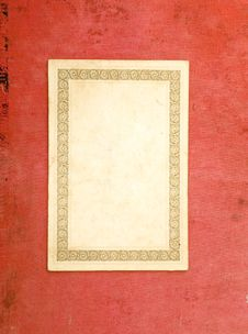 Free Old Blank Card Royalty Free Stock Image - 7848396
