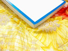 Free Book On Colorful Sheets With Copy Space Royalty Free Stock Images - 7848419