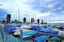 Free Harbor In Lake Of Constance Ship Boat Blue Sk Royalty Free Stock Photo - 7848585