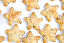 Star Shaped Crackers Royalty Free Stock Photo