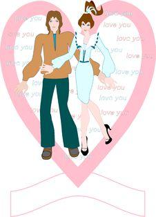 Free I Love You. Postcard. Stock Image - 7848781