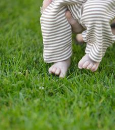 Baby Toes In The Grass Royalty Free Stock Photo