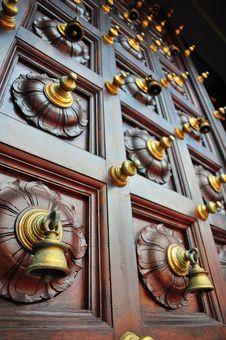 Free Bells On Temple Door Stock Photo - 7848870