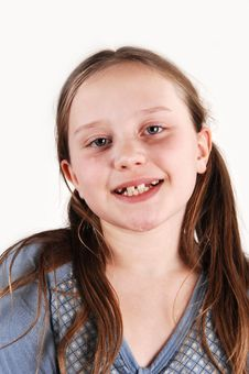 Young Girl With Missing Teethes. Stock Photography