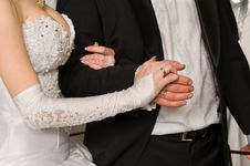 Free Hands Of A Newly-married Couple. Royalty Free Stock Images - 7848939