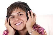 Free Young Teenager With Music Hearphones Royalty Free Stock Photography - 7849037