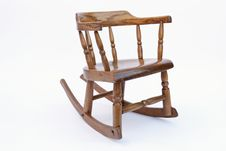 Old Childrens Rocking Chair Stock Photo