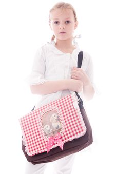 Free Child With A Bag Royalty Free Stock Photos - 7849538