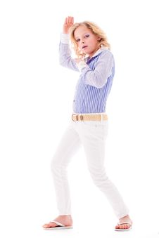 Free Posing Fashion Child Stock Photo - 7849630