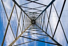 Free Inside Of Electricity Tower Stock Image - 7849821