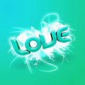 Free 3D Illustration Of The Word Love Green Royalty Free Stock Image - 7857226