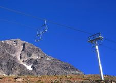 Free Ski Lift And Mountains Stock Image - 7850661