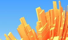 Free Abstract 3d City Royalty Free Stock Image - 7850916