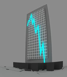 Free 3d Crisis Chart Stock Photography - 7851082