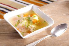 Free Noodle Soup With Dumplings Stock Photos - 7851153