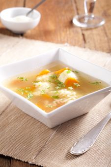 Free Noodle Soup With Dumplings Royalty Free Stock Image - 7851266