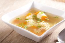 Noodle Soup With Dumplings Royalty Free Stock Photos