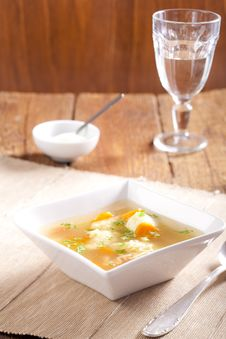 Free Noodle Soup With Dumplings Stock Images - 7851384