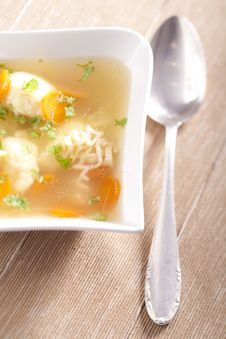 Free Noodle Soup With Dumplings Royalty Free Stock Photography - 7851457
