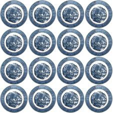 Free Blue White Plate Seamless Pattern Royalty Free Stock Photo - 7851965