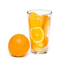 Free Orange And Glass Royalty Free Stock Image - 7852116