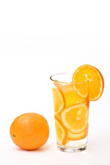 Free Glass Of Orange Stock Photography - 7852142