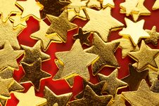 Golden Decoration With Gold Star Royalty Free Stock Photography